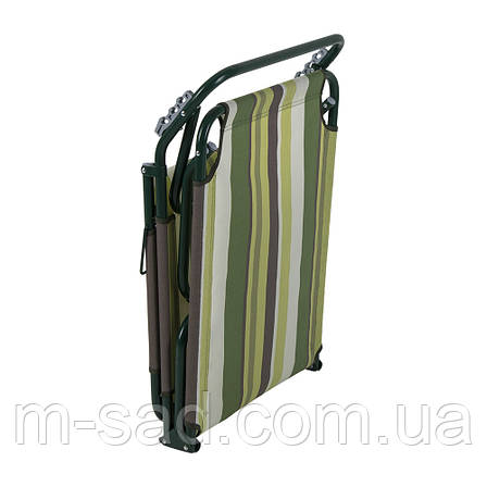 "Раскладушка ""Диагональ"" d22 мм (текстилен зеленая полоса), фото 2"