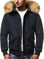 Куртка мужская зимняя черная . Куртка чоловіча зимова.ТОП КАЧЕСТВО!!!, фото 1