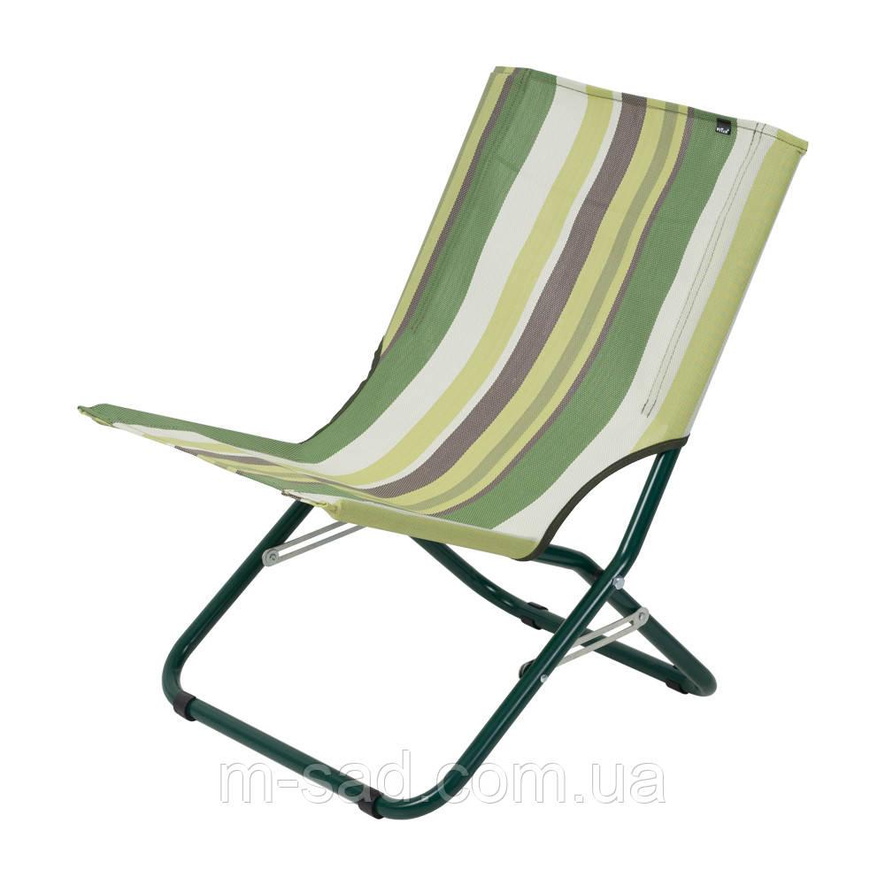 """Шезлонг """"Мини"""" d22 мм (текстилен зеленая полоса)"""