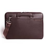 Папка кожаная для MacBook (Макбук) коричневая B13 (12-00)