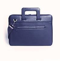 Папка кожаная для MacBook (Макбук) синяя BSL13 (13-00)