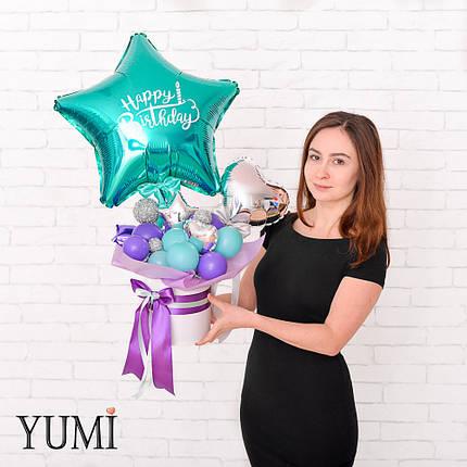 Композиция из шаров с воздухом для девушки, фото 2