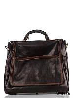 Итальянская кожаная дорожная сумка коричневая Amelie Pelletteria 8817P