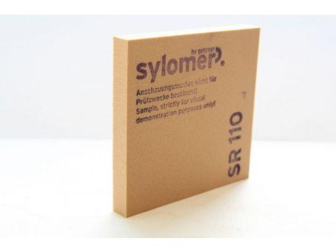 Sylomer SR 110 коричневый Предельная статическая нагрузка 0.110 Н/мм2