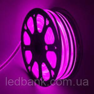 Светодиодный гибкий неон 220В 2835 120 LED Neon Flex IP65 Розовый