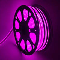 Светодиодный гибкий неон 220В 2835 120 LED Neon Flex IP65 Розовый, фото 1