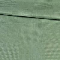 Рогожка деко зелена в вафельну клітку, ш.145 (33112.001)