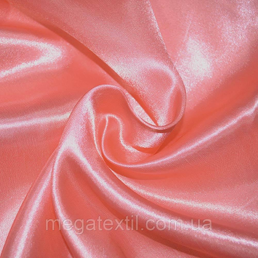 Атлас портьєрний рожевий насичений ш.280 (33602.072)
