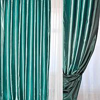 Атлас портьєрний хамелеон бирюзово-чорний ш.280 (33607.032)