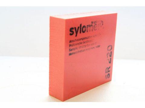 Sylomer SR 220 красный Предельная статическая нагрузка 0.220 Н/мм2