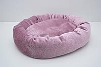 Лежак для собак и котов Ложе розовый №1 550х450х120