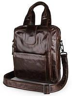 Сумка мужская кожаная Vintage 14233 коричневая