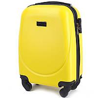 Микро пластиковый чемодан Wings 310 на 4 колесах желтый