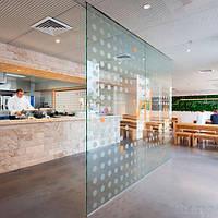Стеклянные перегородки для кафе и ресторанов