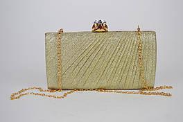 Клатч женский золотистый 21570