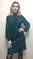Женское нарядное платье из велюра-плиссе П224, фото 1