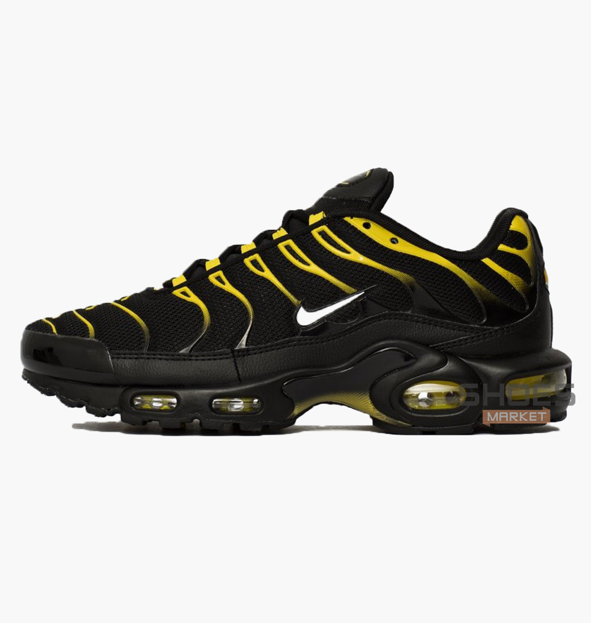Мужские кроссовки Nike Air Max Plus Black/Yellow 852630-020, оригинал