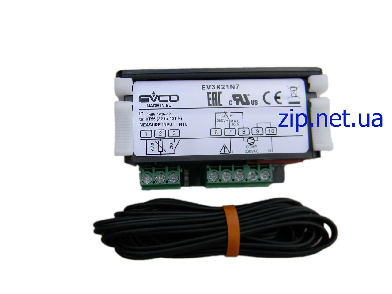 Контроллер Evco EV3X21N7 (Евко 21) 1 датчик