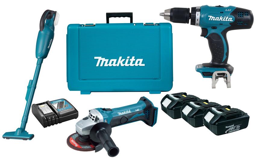 Набор аккумуляторного инструмента Makita DLXMUA452 + 3 акб 18 V 3 Ah + з/у + кейс