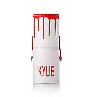 Набор кистей для макияжа в тубе Kylie Jenner 12шт (красный)