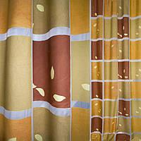 Деворе портьерное в коричнево-бежевые квадраты ш.140 ( 37201.005 )