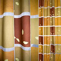 Деворе портьєрне в коричнево-бежеві квадрати ш.140 (37201.006)