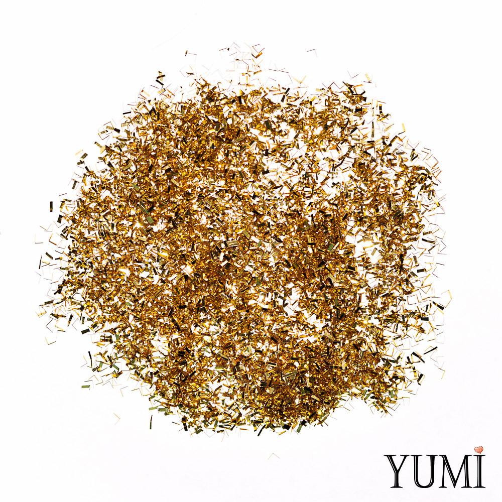 Конфетти мелкое рубка золото (5 мм)