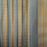 Органза сіра темна з золотими смужками, ш.300 (37212.001)