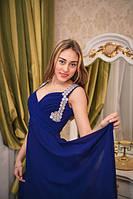 Вечернее платье Синее с украшение