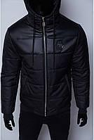 Куртка мужская зимняя Philipp Plein VZ 1547 camo черная реплика