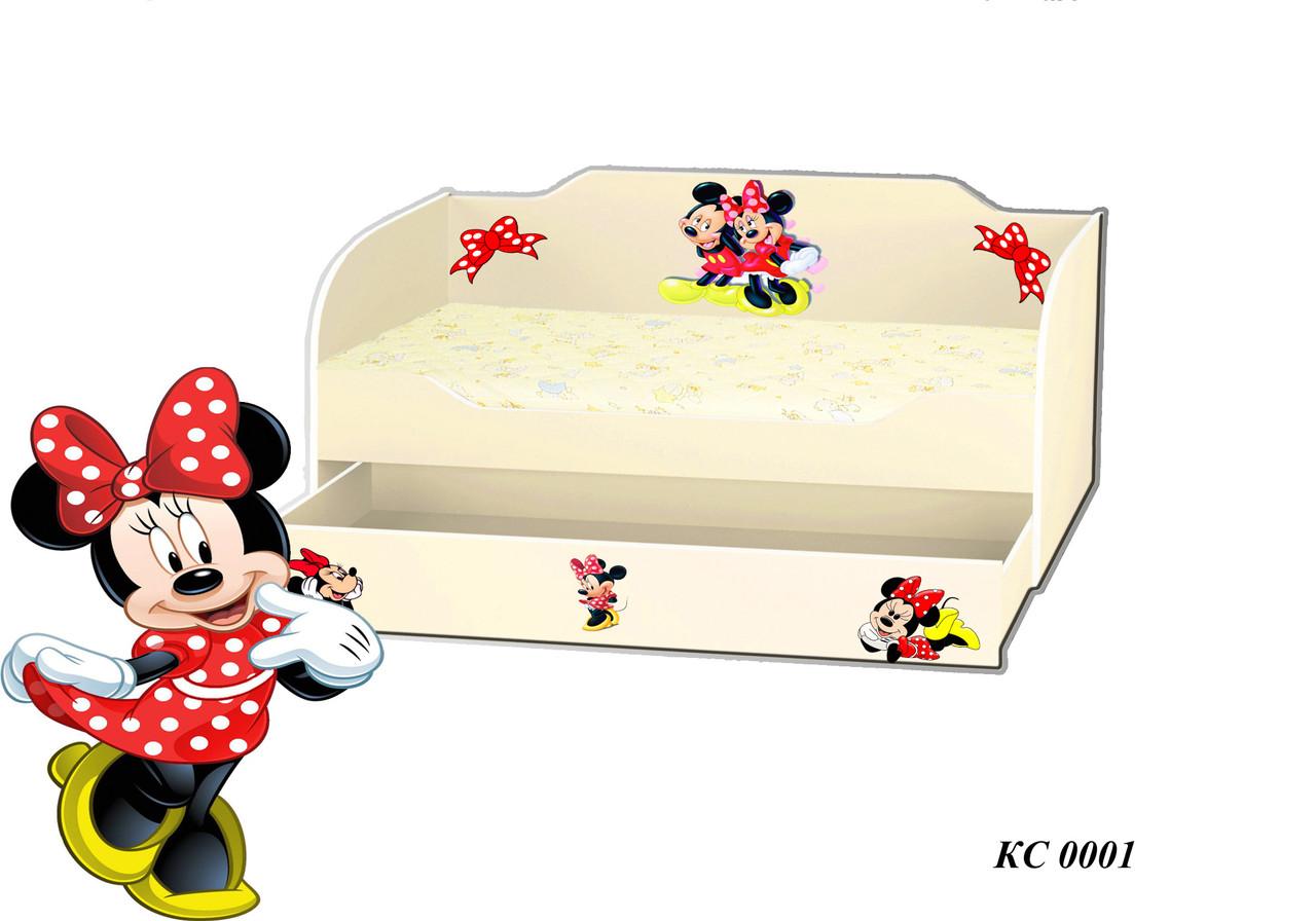 Детская кровать Kinder Cool Микки и Минни без матраса 80х170 (КС 0001)