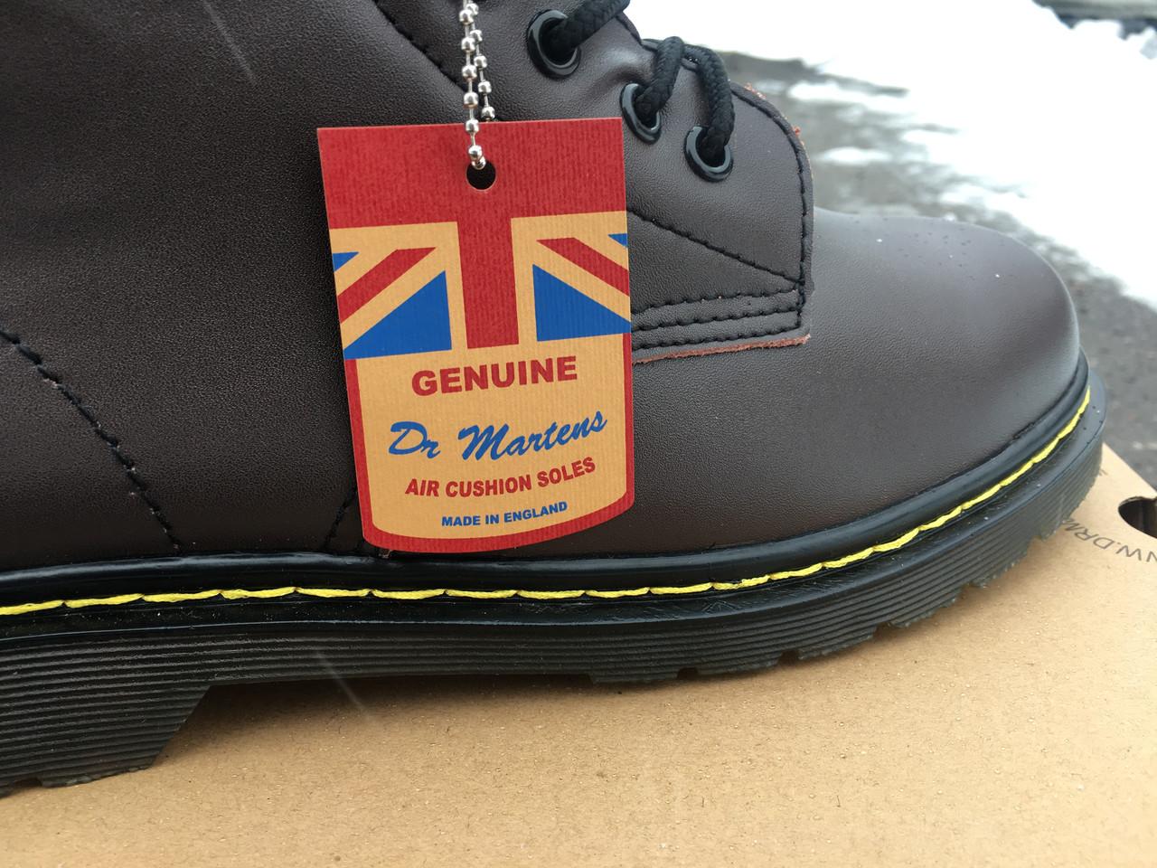 Ботинки с мехом Dr.Martens 1460 (КОРИЧНЕВЫЕ) Размер 41 42 43 44 45