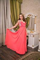 Вечернее платье Розовое с украшение