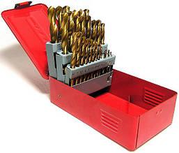 Профессиональный комплект титановых сверл для металла 28 шт. 1,5-12,7 мм