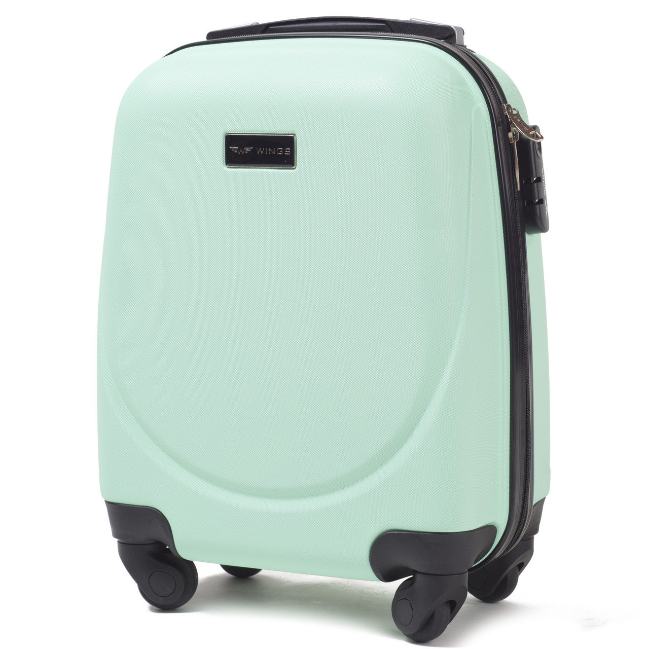 Микро пластиковый чемодан Wings 310 на 4 колесах зеленый