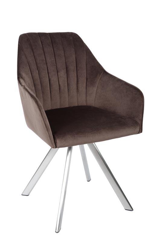 Кресло поворотное Galera (Галера) велюр мокко от Niсolas
