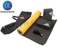 """Набор для фитнеса и йоги - """"Adidas Yoga Set Pro""""(коврик, блоки, ремень). Лучший подарок на Новый Год"""