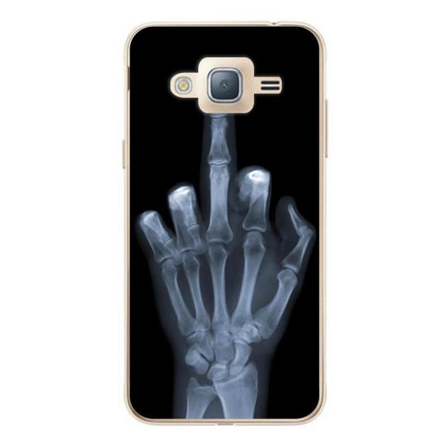 Чехол силиконовый для Samsung J7 Neo Galaxy J701 с рисунком Рентген