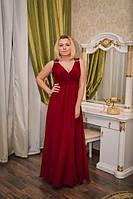 Вечернее платье Бордо с поясом