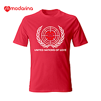 Футболка з коротким рукавом World of love червона