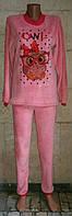 Теплая пижама для девочки подростка с рисунком OWL 40-46 р, подростковые пижамы оптом от производителя