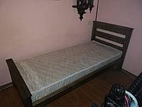 Кровать из натурального дерева 950 х 2150 мм. Брашированное дерево