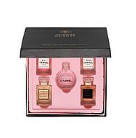Подарочный набор мини-парфюмов Сhanel 5 x 15ml (черная коробка)