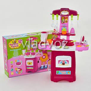 Детская кухня для девочки игрушечная весела течет вода Cook fun розовая, фото 2