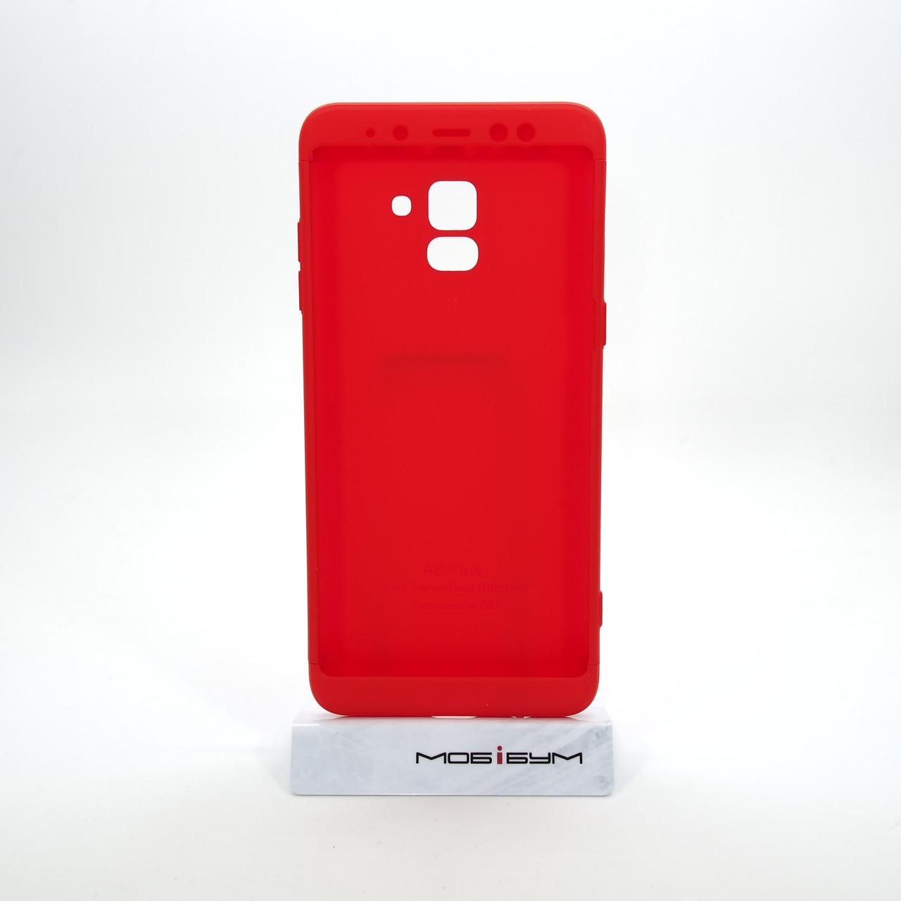 Чохол 360 GKK LikGus Samsung Galaxy A8 plus red [A730]