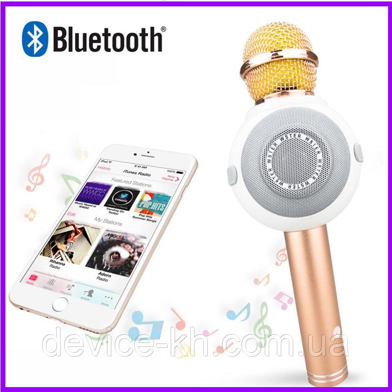 Портативный Микрофон - Караоке  Wster WS-878 / Караоке / Микрофон /  Bluetooth / USB / AUX