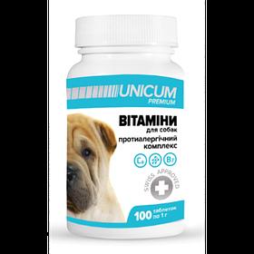 Витамины UNICUM premium для собак противоаллергический комплекс