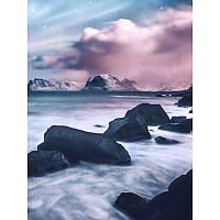 """Алмазная мозаика """"Вечерний туман"""", картина стразами 25*30см"""