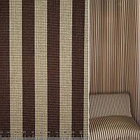 Жаккард рельефный коричнево-бежевые полоски ш.145 (38331.003)