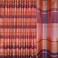 Органза в розовую+фиолетовую +бордовую полоску хамелеон ш.280 (38411.001)